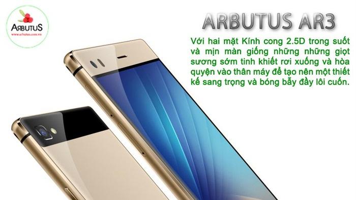 Arbutus Ar3 sử dụng công nghệ màn hình cong 2.5D