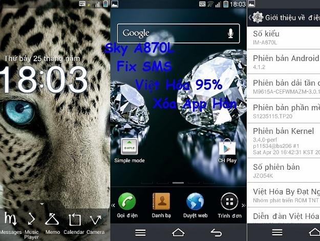 Fix lỗi phần mềm của điện thoại Sky